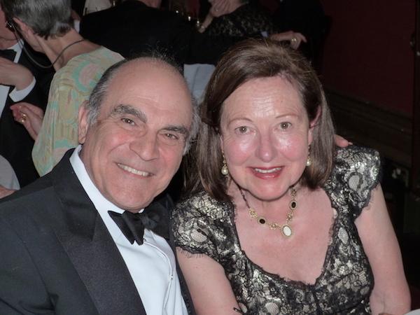 Chairman Barbara Longford with David Suchet