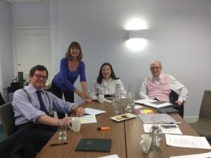 Giles Cole, Judy Buxton, Barbara Longford and Geoffrey Wansell.