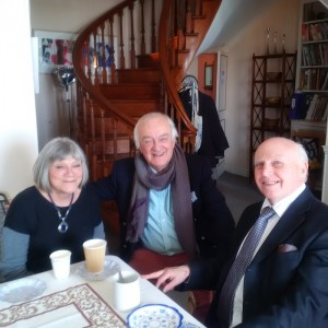 The Revd. Aidan Harker with Denis and Jinnie Moriarty