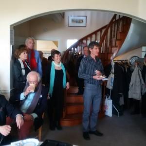 Members listening to Luke Jeffers' welcome speech